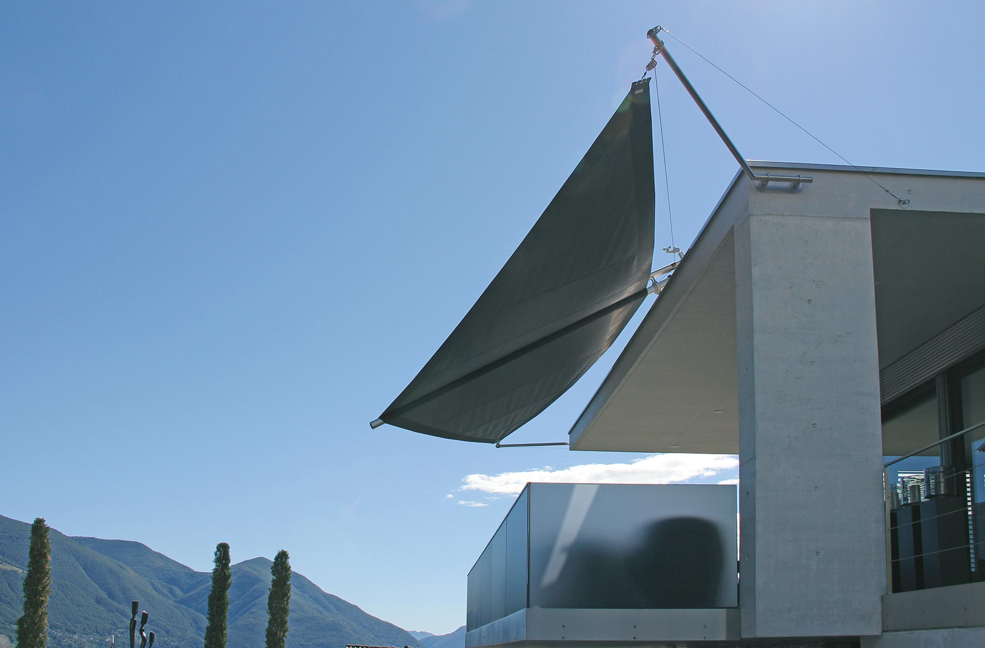 Sonnensegel aufrollbar EFH Ascona