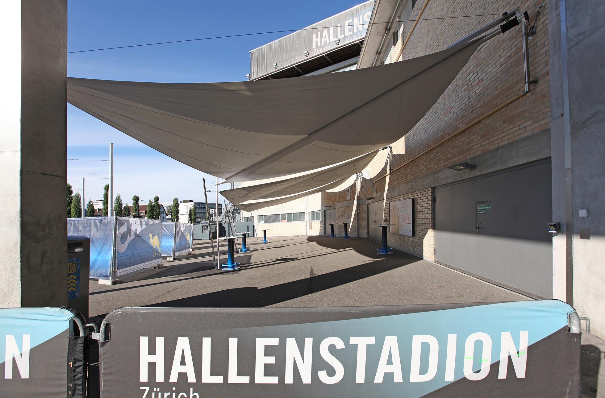 Regenschutz Hallenstadion Zürich