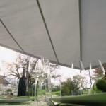 Automatisches Sonnensegel über Sitzplatz in EFH