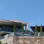 2 freischwebende Sonnensegel Cantilever, Ascona TI
