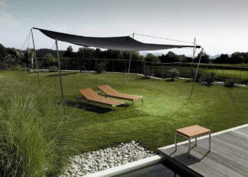 manuell rollbares Sonnensegel für den Garten