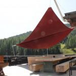60 m2 automatisches Sonnensegel in Tschierv GR