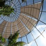Glasbeschattungen mit Sonnensegeln für den botanischen Garten in Zürich ZH