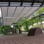 Automatisches Sonnensegel Axis für grosse Flächen 2454
