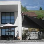 Automatisches Sonnen Segel aufrollbar Privathaus im Aargau