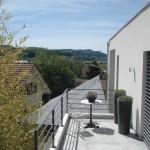 Automatisches Sonnen Segel Privathaus im Aargau