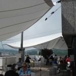 Sonnenschutz auf der Terrasse im Panoramarestaurant Bern (Schweiz)