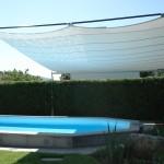 Sonnensegel aufrollbar: Poolüberdachung in Remetschwil AG 8322