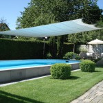 Elegantes Sonnensegel aufrollbar: Poolüberdachung in Remetschwil AG 8324