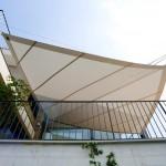 Automatische Sonnensegel wegrollbar Terrasse in Montagnola