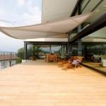 Automatische Sonnensegel Terrasse in Montagnola