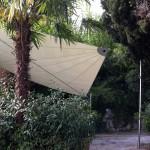 Sonnensegel Sichtschutz im Garten
