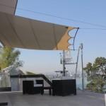 Exklusiver rollbares Sonnensegel für Terrasse in Genf