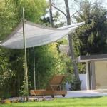 filigranes Sonnensegel aufrollbar: Beschattung von Gartensitzplatz in Nyon VD 0709