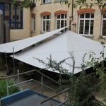 Doppelanlage Sonnensegel: Berufsbildungszentrum Zürich