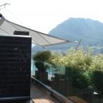 Sonnsensegel aufrollbar über Terrasse in Lugano