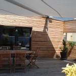 Automatische Sonnensegel aufrollbar Terrasse in Martigny VS
