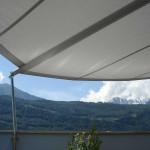 Automatische Sonnensegel Terrasse in Martigny VS
