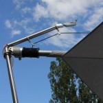 Sensorgesteuerter Antrieb für Sonnensegel