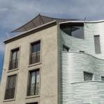 Sonnensegel automatisch rollbar über Dachterrasse