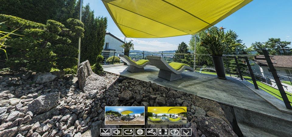 Automatiche Sonnensegel Terrasse im Lemmata (Schweiz)