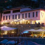 Sealounge at night bei Seven, Ascona TI