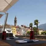Sonnensegel spendet Schatten im Seven in Ascona