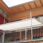 manuell rollbares Sonnensegel für den Balkon