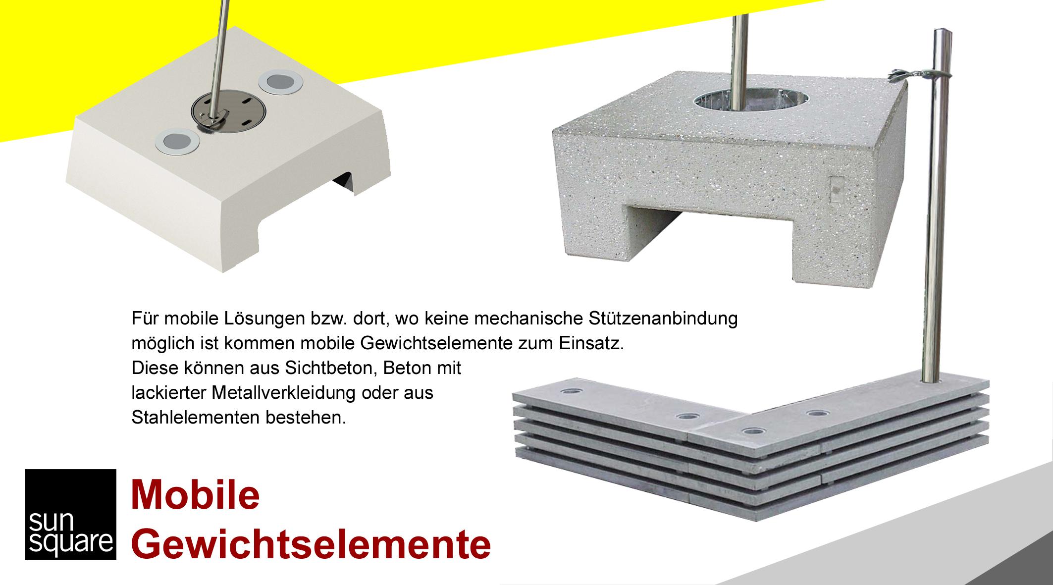 SunSquare Sonnensegel automatisch aufrollbar mobile Gewichtssysteme von Sonnensegel Schweiz