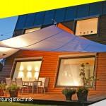 SunSquare Sonnensegel automatisch aufrollbar
