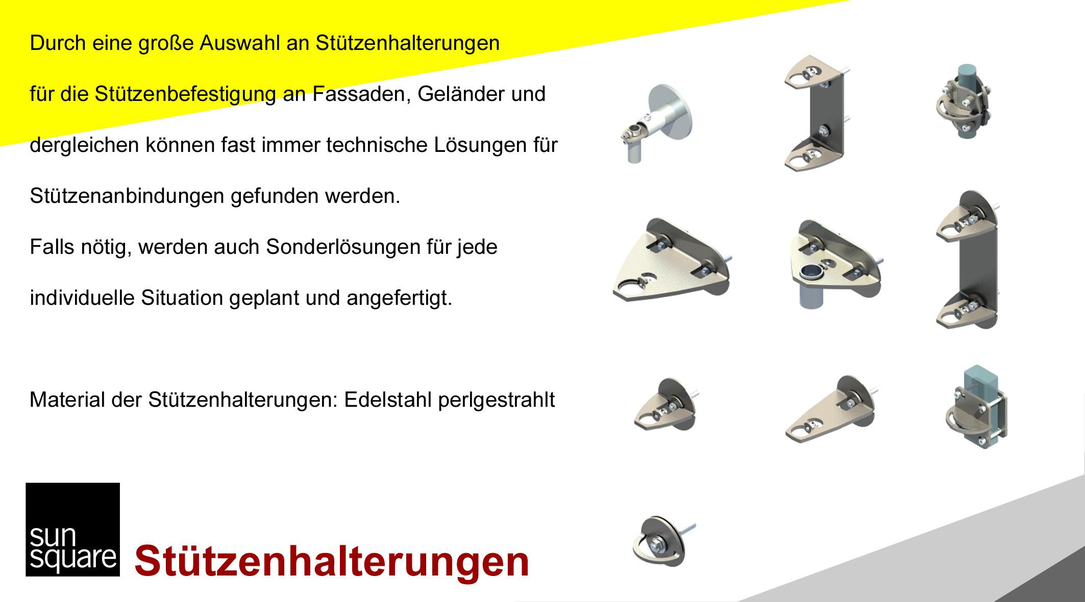 SunSquare Sonnensegel automatisch aufrollbar Stützenhalterung von Sonnensegel Schweiz
