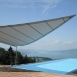 Automatische Sonnensegel Terrasse in Wollerau