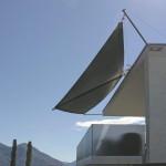 Filigrane Terrassenbeschattung in Ascona TI