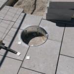 Bodenanschluss für demontierbare Sonnensegel Flon, Lausanne