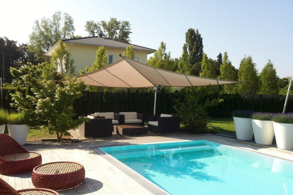 Sonnensegel Cantilever Pool