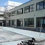 Innenhof, Gehplatten-Ueberdeckung mit 2 Grosssegel