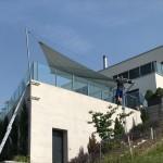 Metallkonstruktion der Architektur angepasst