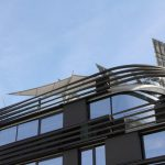Sonnensegel für Schatten, Photovoltaik für Energie, Vaduz LI