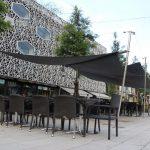 Sonnensegel Quartier du Flon, Lausanne VD