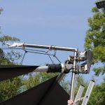 Motorensteuerung mit Windsensor für automatische Sonnensegel