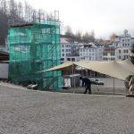 Wetterschutz für Baustelle Klosterplatz
