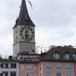 Dachterrasse Hotel Storchen mit St. Peter-Turm ZH