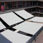 Quadratische Sonnensegel für Geschäftshaus Baselstrasse 15, 4310 Rheinfelden AG