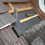 Dachmontage für rollbares Segel